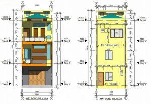 Phối cảnh thiết kế kiến trúc nhà phố