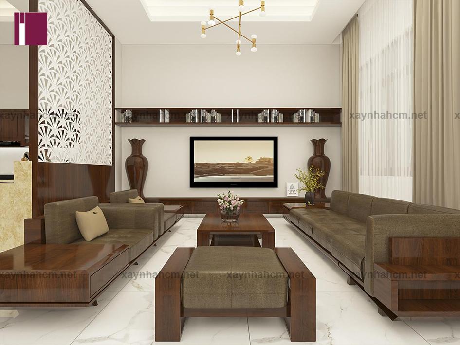 Thiết kế nội thất nhà phố phong cách cổ điển đơn giản
