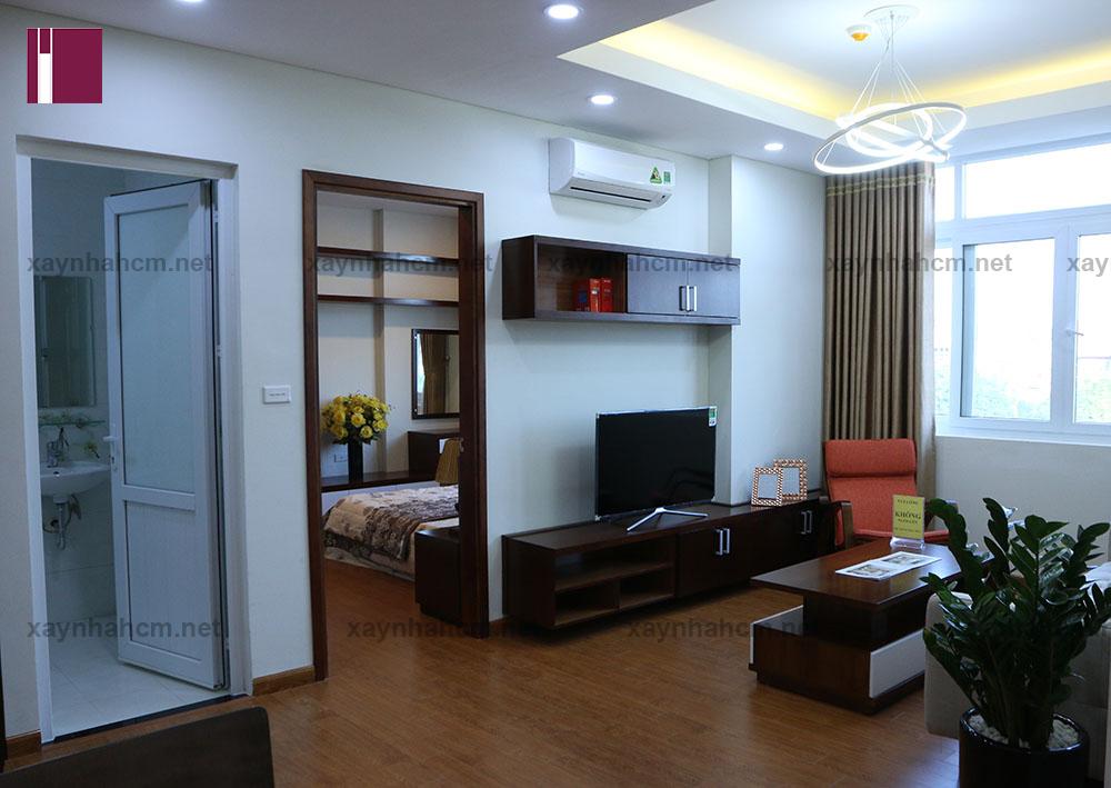Thiết kế thi công nội thất chung cư An Phú căn A303 010