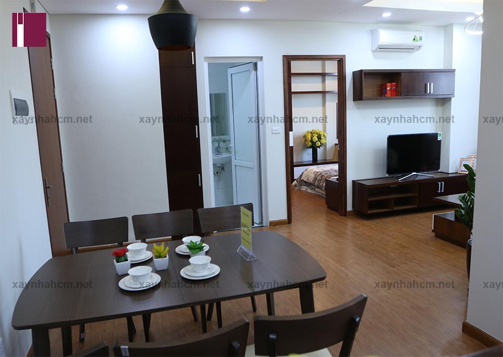 Thiết kế thi công nội thất chung cư An Phú căn A303-Phòng bếp v1