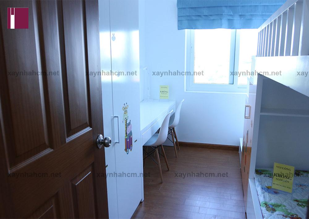 Thiết kế thi công nội thất chung cư An Phú căn A303-Phòng ngủ trẻ v2