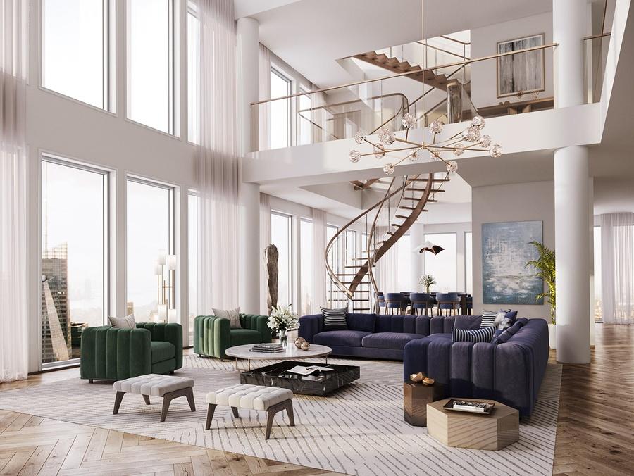 Mẫu nhà thông tầng đẹp - Phòng khách sang trọng