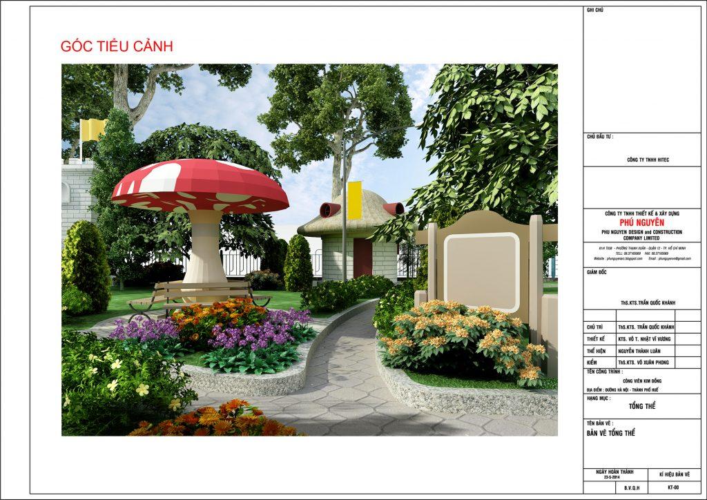 Góc tiểu cảnh - Thiết kế cảnh quan công viên sân vườn
